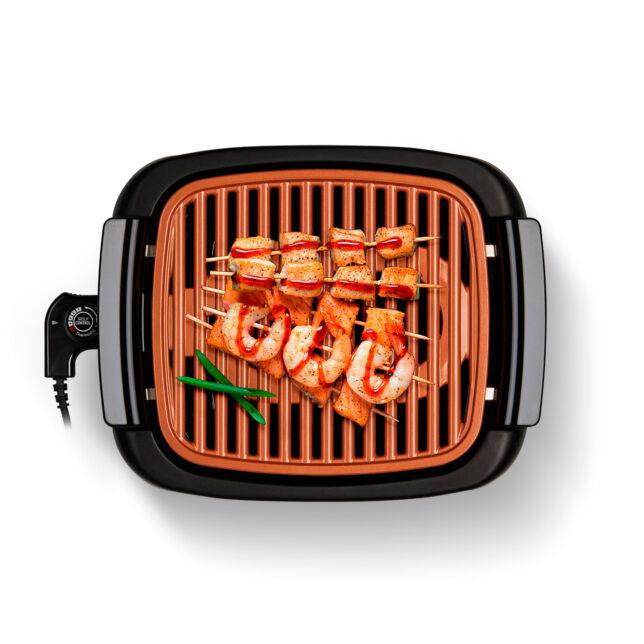 Plancha eléctrica grill sin humos